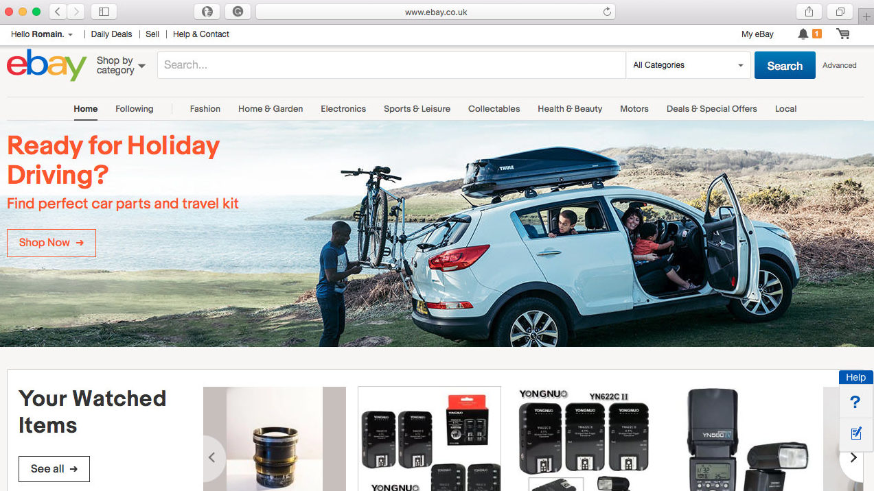 Ebay Travel Touring Themed Shoot Goes Online On The Homepage Soda Visual
