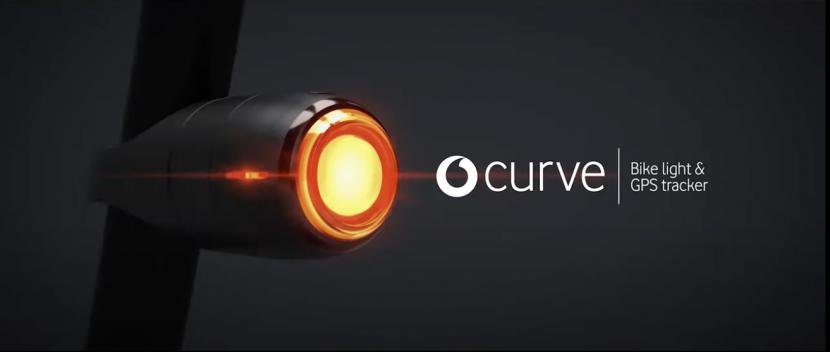 Vodafone presents: Curve Bike light & GPS tracker